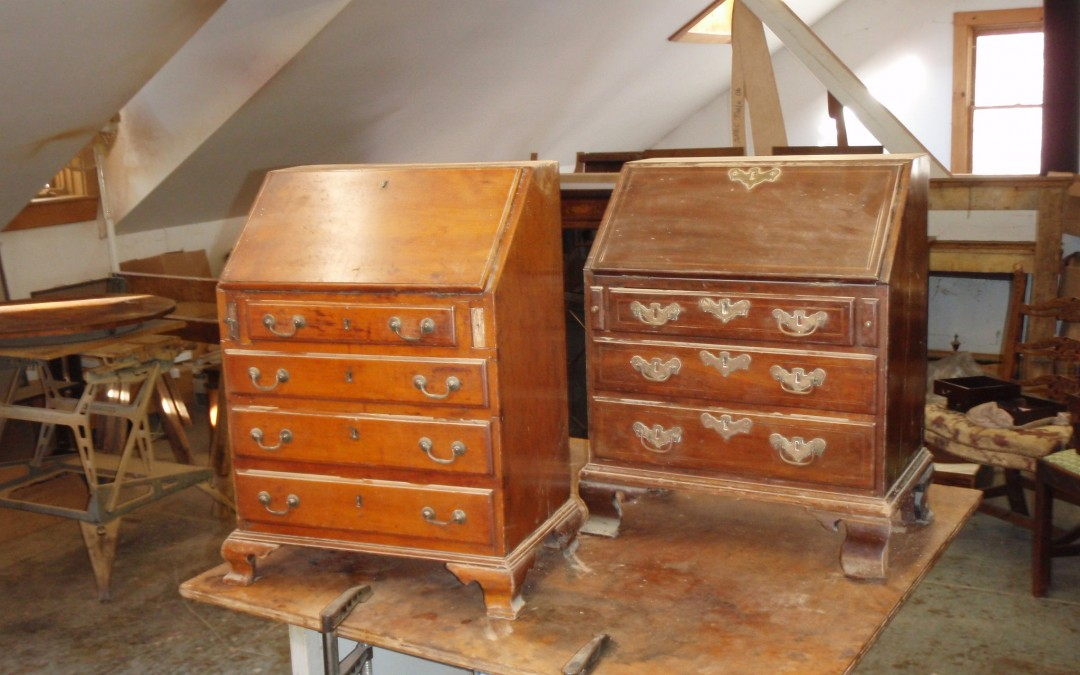 Salesman's desk restoration